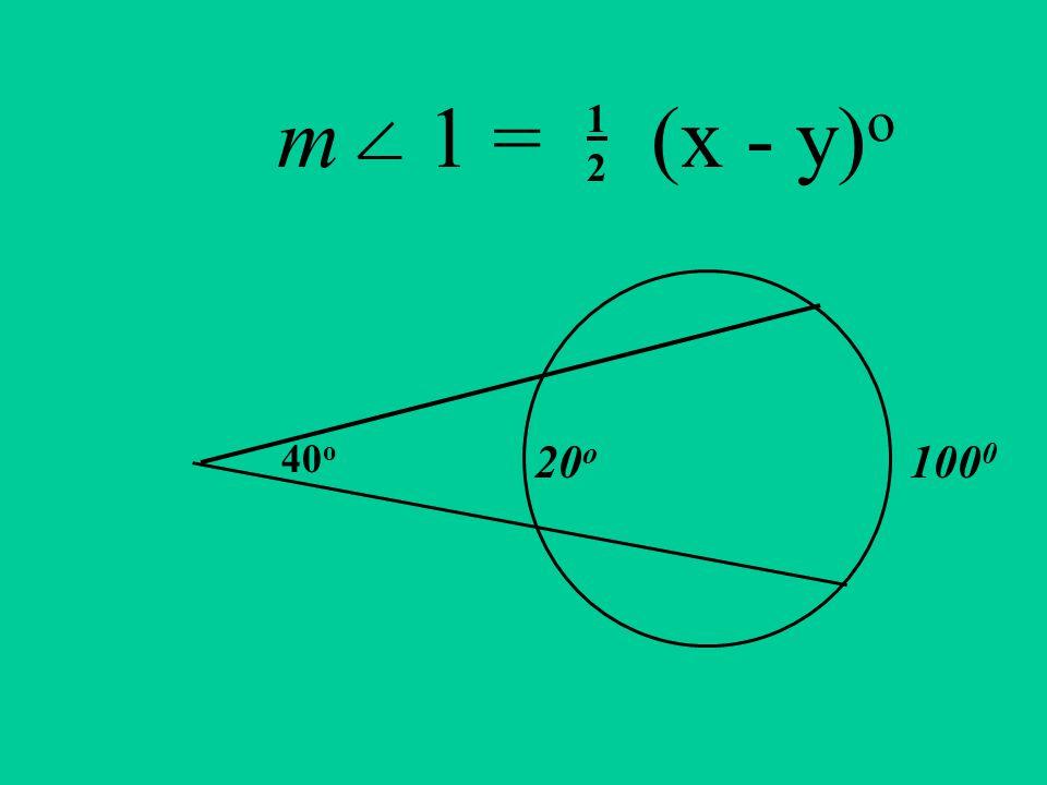 m 1 = (x - y) o 100 0 20 o 40 o 1212