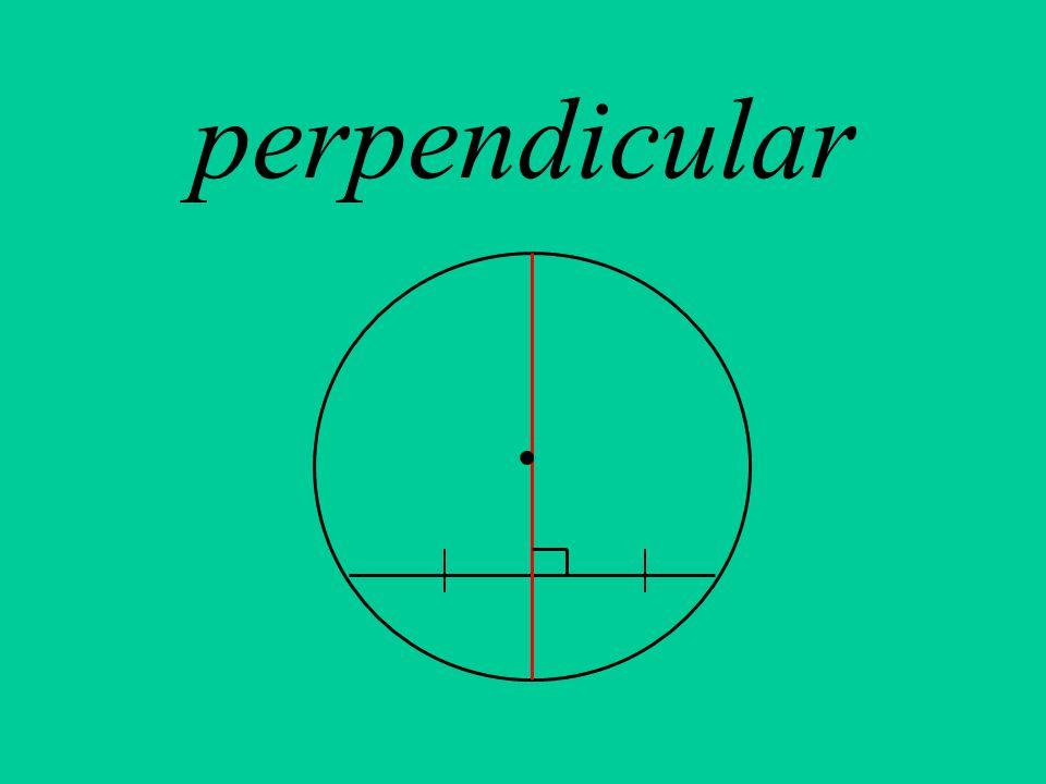 perpendicular.