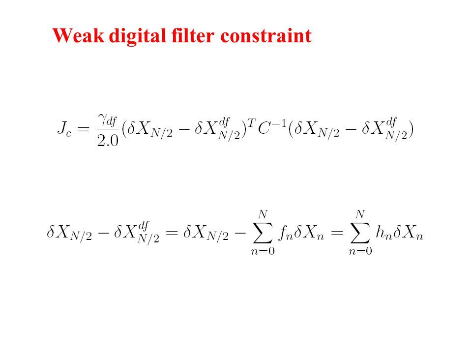 Weak digital filter constraint