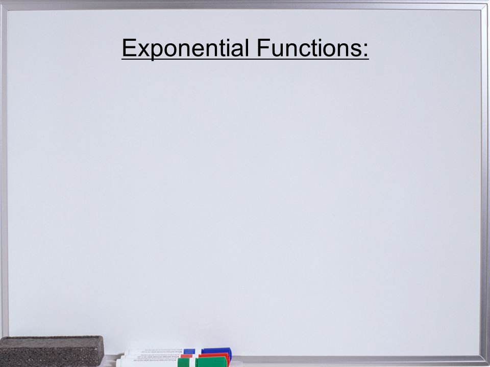 Exponential Functions: