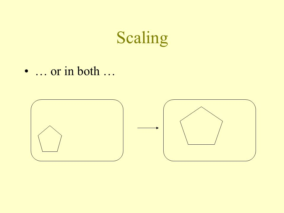 Scaling … or in both …