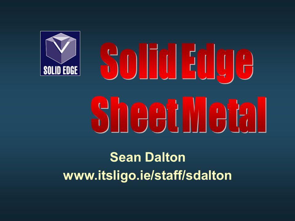 Sean Dalton www.itsligo.ie/staff/sdalton