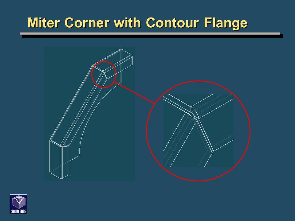 Miter Corner with Contour Flange