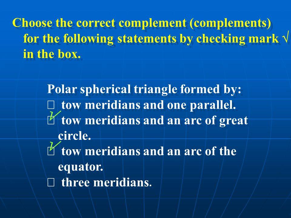 On an ellipsoid we can consider that:  N > M always.