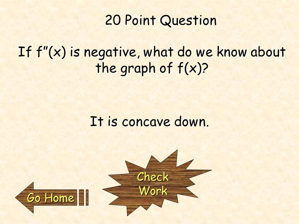 If f'(a) is positive, what do we know about f(x) at a.