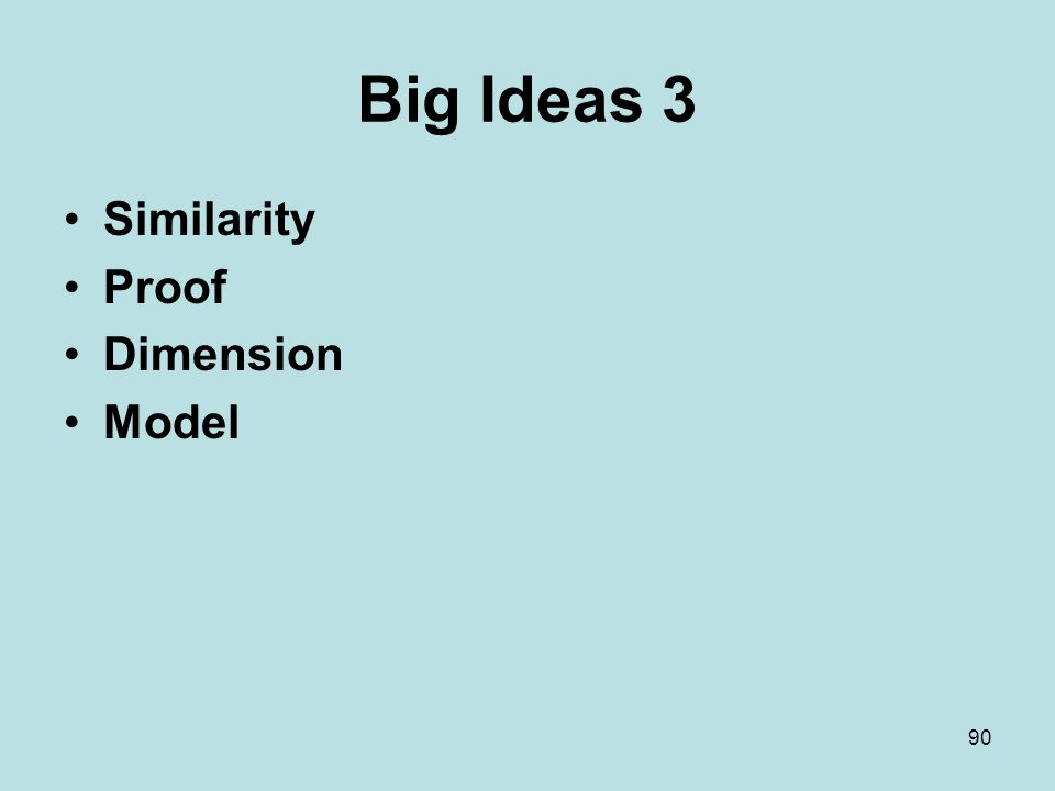 Big Ideas 3 Similarity Proof Dimension Model 90