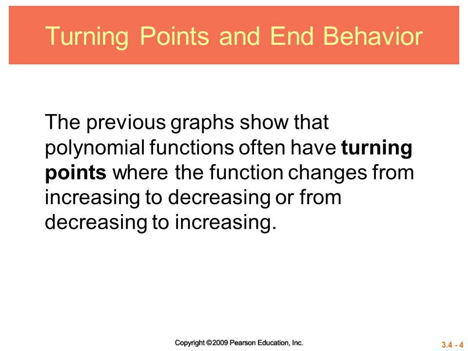 3.4 - 15 Graphing Techniques We have discussed several characteristics of the graphs of polynomial functions that are useful for graphing the function by hand.