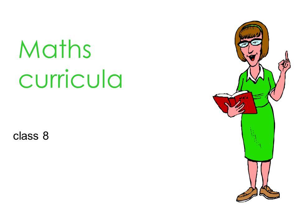 Maths curricula class 8
