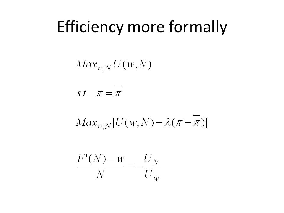 Efficiency more formally