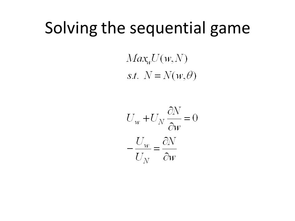 Solving the sequential game