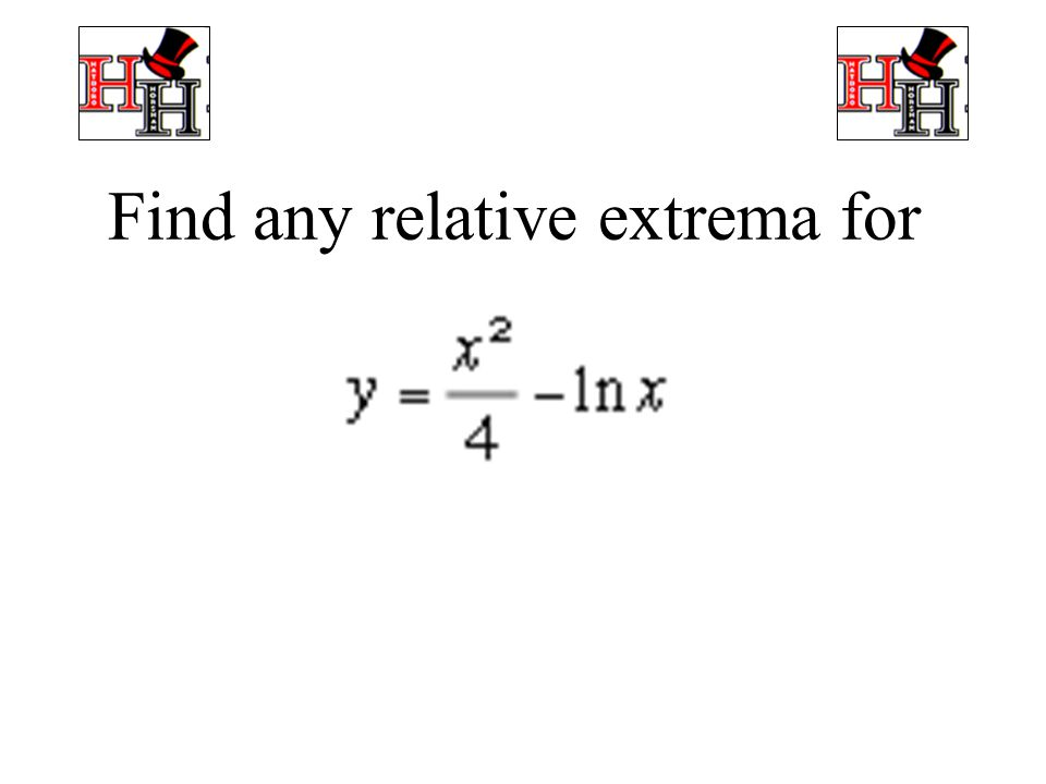 Find any relative extrema for of