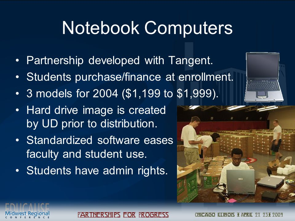 Notebook Computers Partnership developed with Tangent.