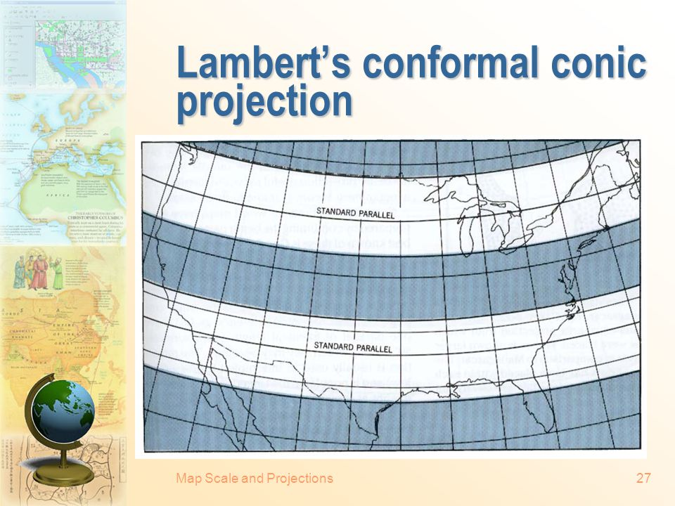 Map Scale and Projections26 Mercator and transverse mercator projections Right: The conceptual cylinder for the normal form of Mercator's projection i