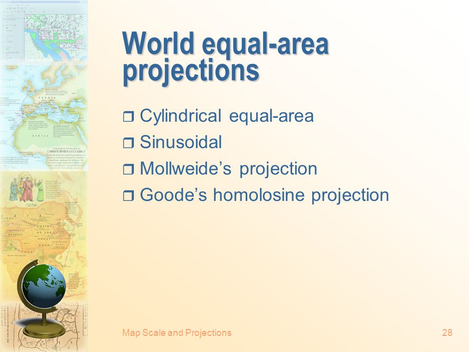 Map Scale and Projections27 Lambert's conformal conic projection