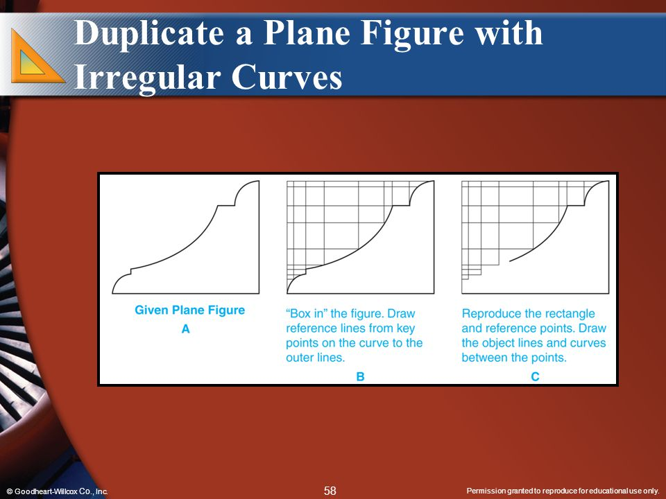 Permission granted to reproduce for educational use only. 58 © Goodheart-Willcox Co., Inc. Duplicate a Plane Figure with Irregular Curves