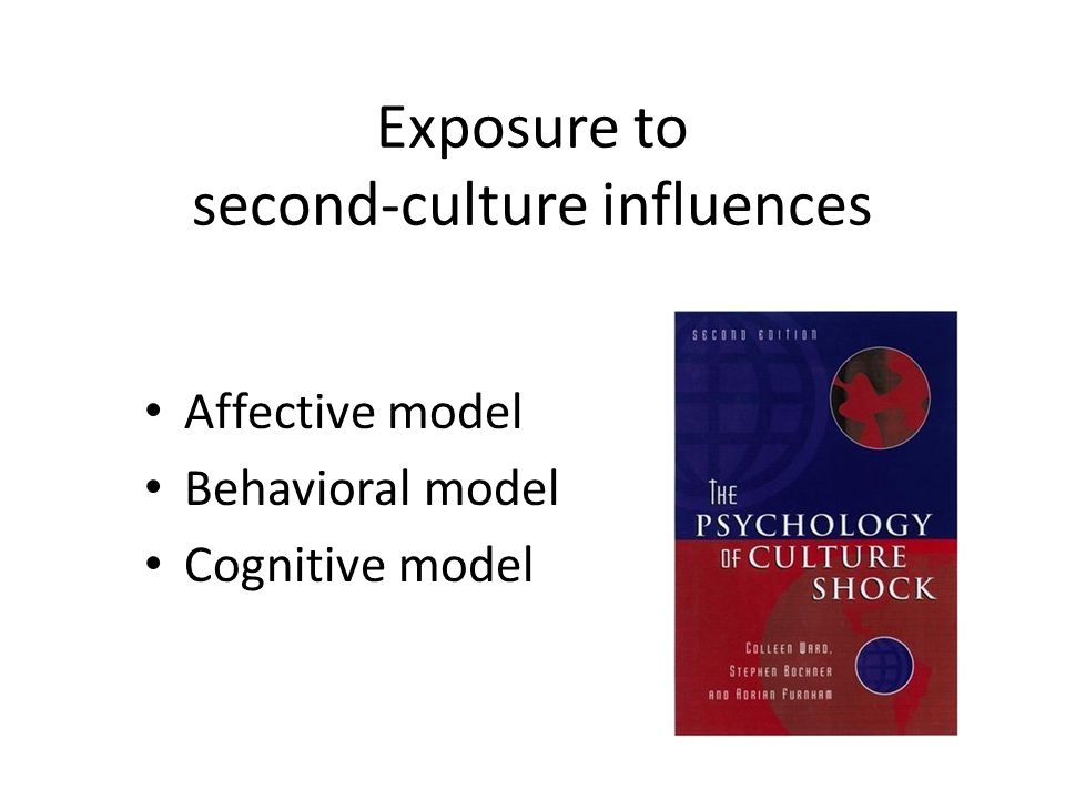 Exposure to second-culture influences Affective model Behavioral model Cognitive model