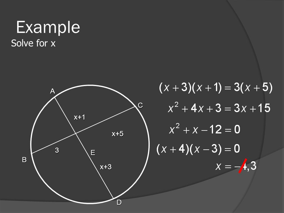 Example Solve for x A B C D E x+1 x+3 x+5 3