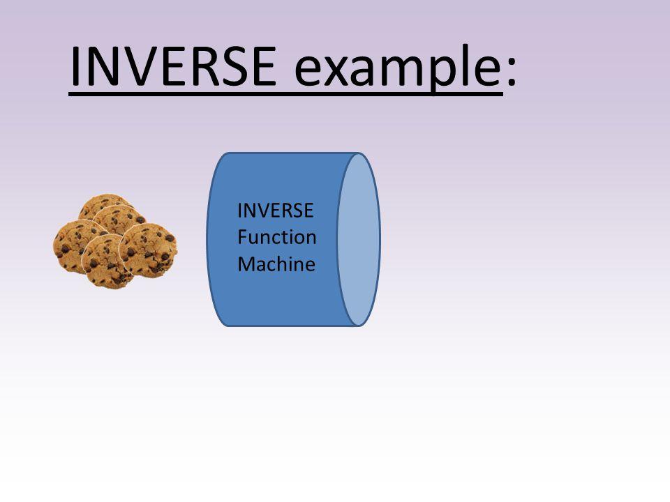 INVERSE example: INVERSE Function Machine