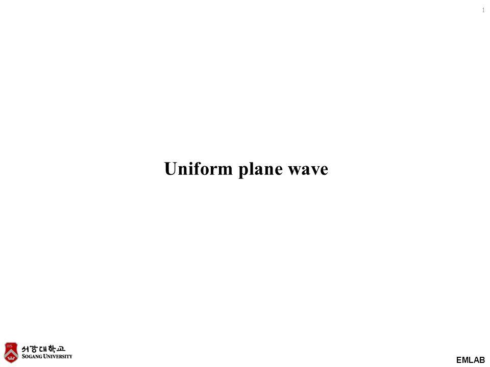 EMLAB 1 Uniform plane wave