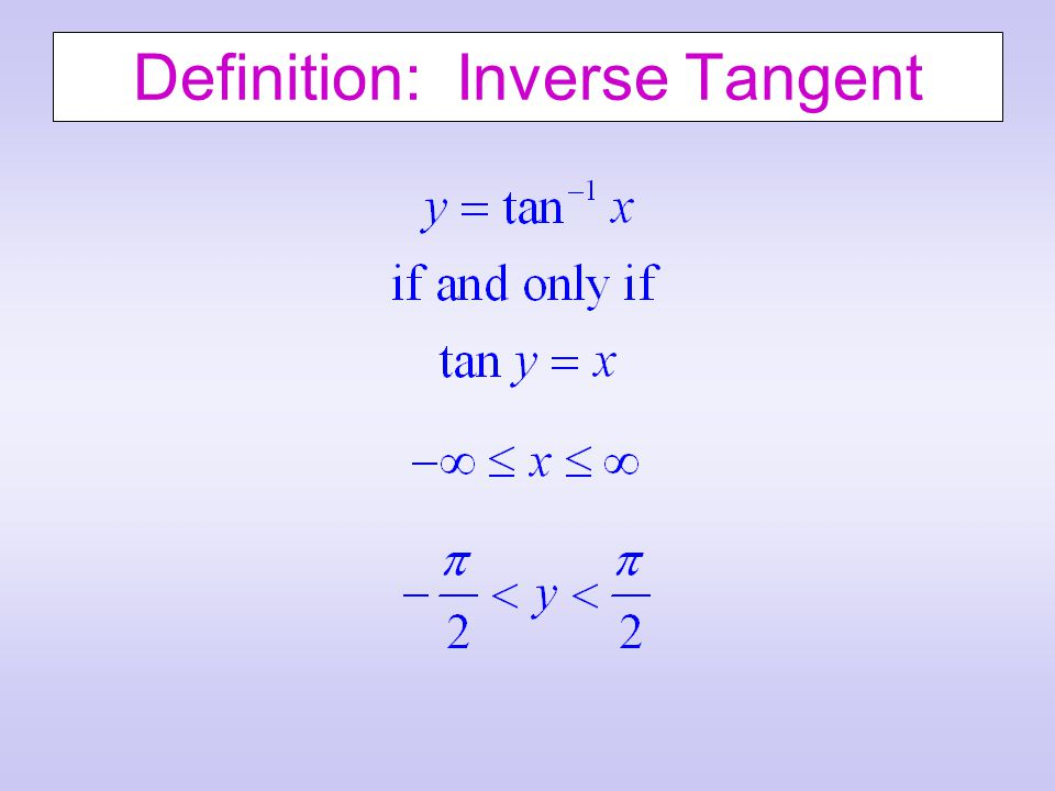 Definition: Inverse Tangent