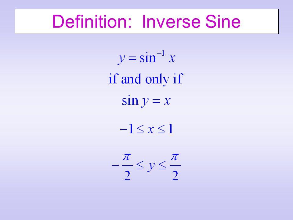 Definition: Inverse Sine