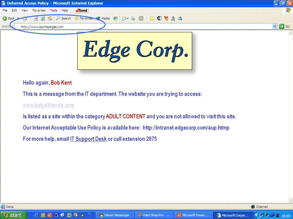 10:59 Yahoo! – Microsoft Internet Explorer http://www.katysfriends.com