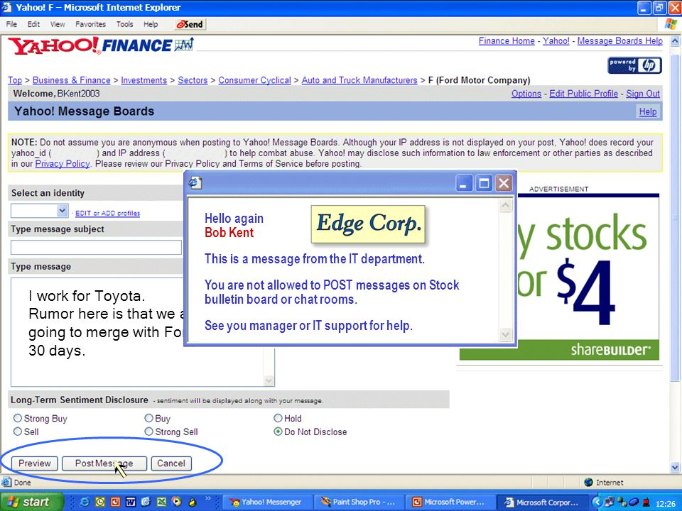 Yahoo! F – Microsoft Internet Explorer 12:13 http://messages.yahoo.com/?action=q&board=f