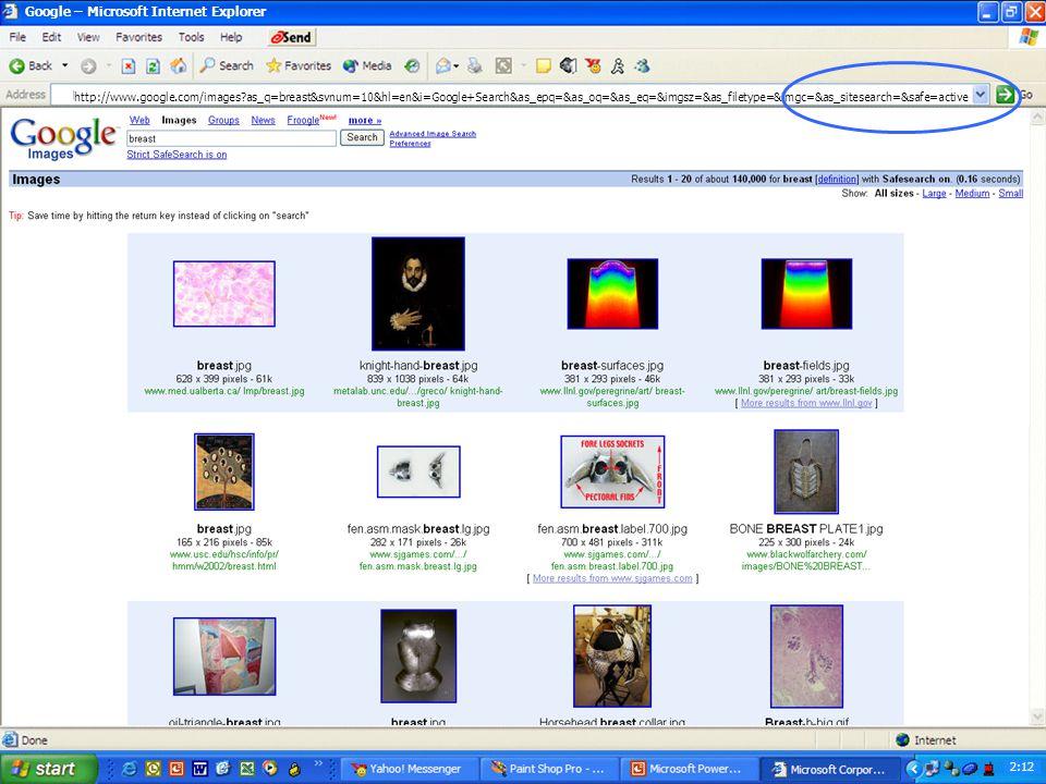 2:08 10:46 Google – Microsoft Internet Explorer http://www.google.com 2:12