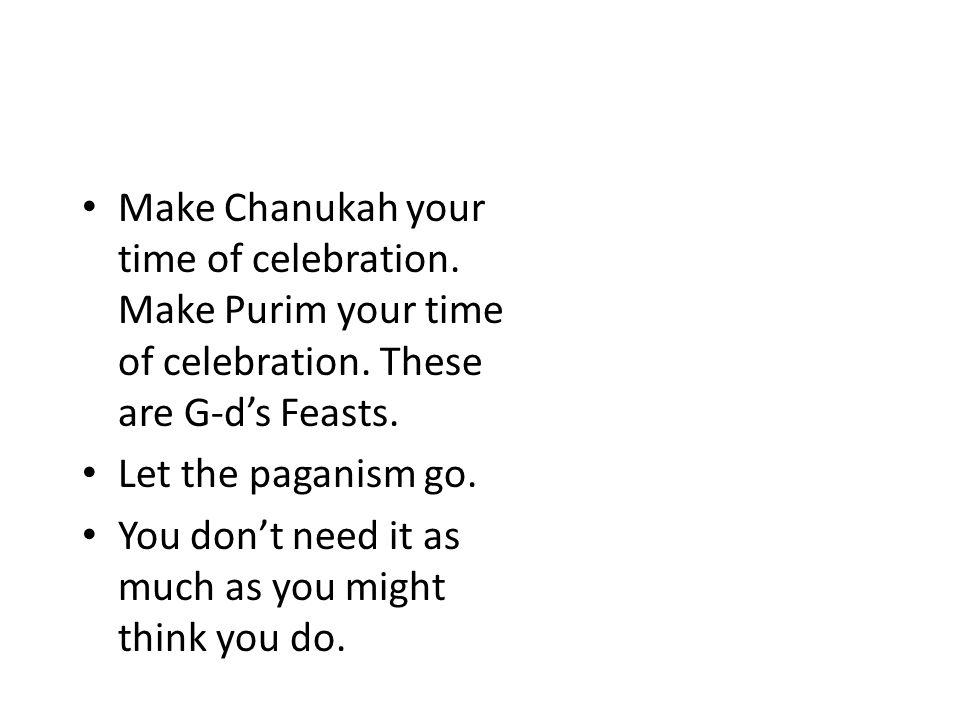 Merry Satanmas Make Chanukah your time of celebration.