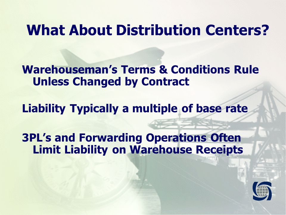 What About Distribution Centers.