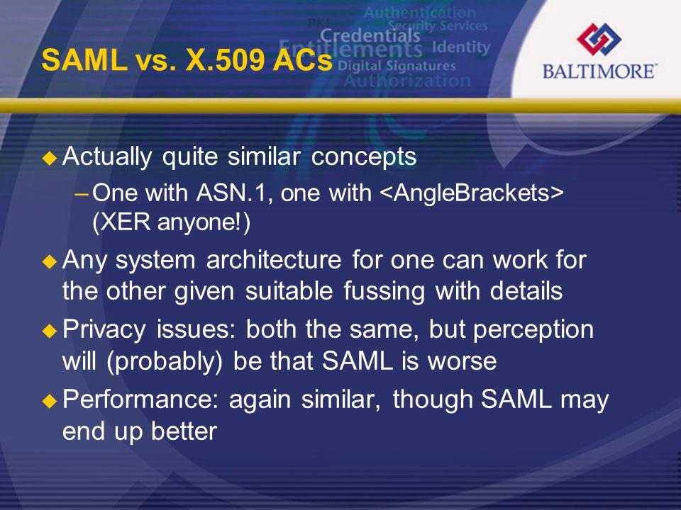 SAML vs.