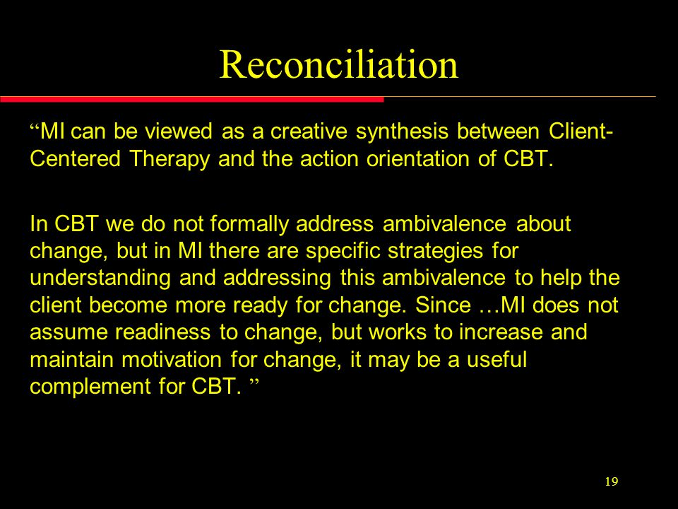 The Contradiction In cognitive and behavioral therapies ….