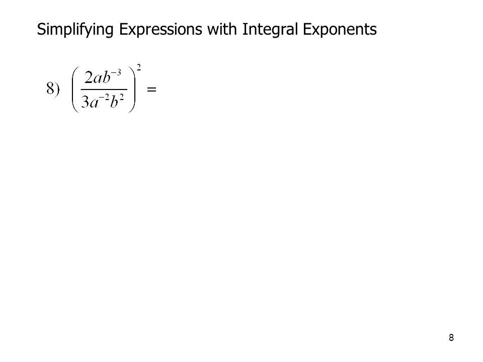 29 Simplifying Radicals Rationalizing the denominator 
