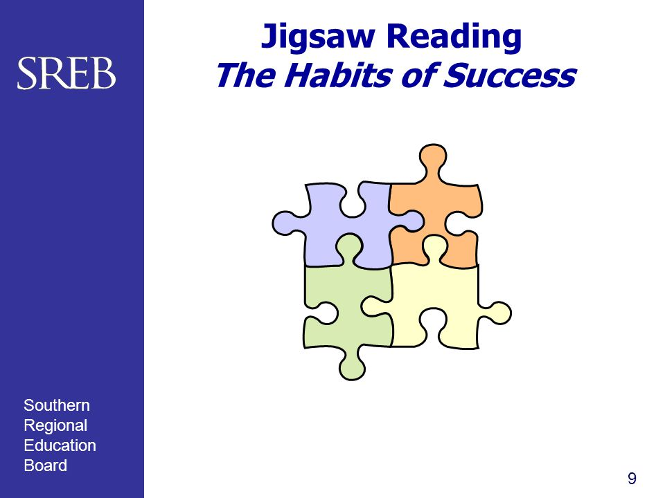 Southern Regional Education Board Jigsaw Reading The Habits of Success 9