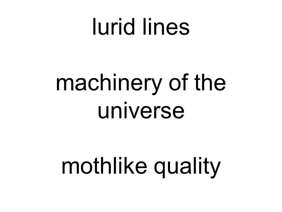 lurid lines machinery of the universe mothlike quality