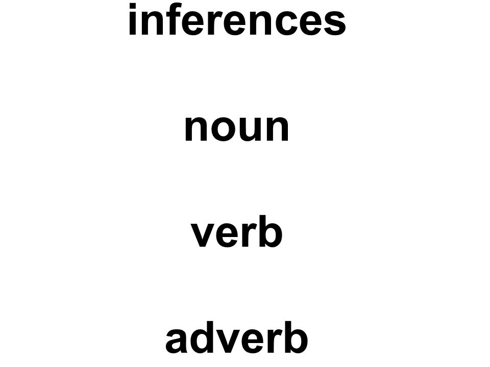 inferences noun verb adverb