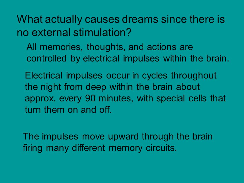 What actually causes dreams since there is no external stimulation.