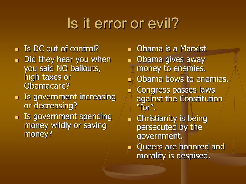 Is it error or evil. Is DC out of control. Is DC out of control.