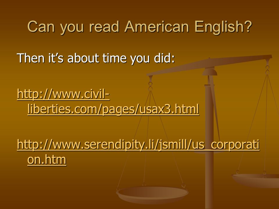 Can you read American English.