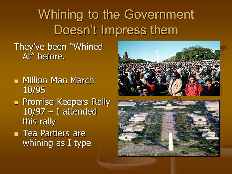 Whining to the Government Doesn't Impress them They've been Whined At before.