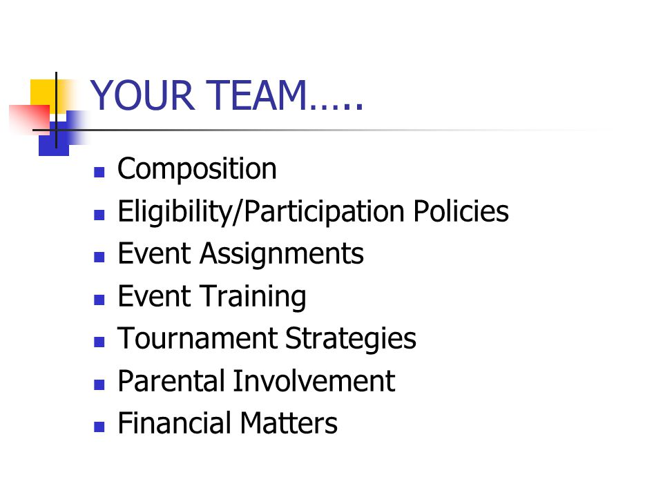 YOUR TEAM…..