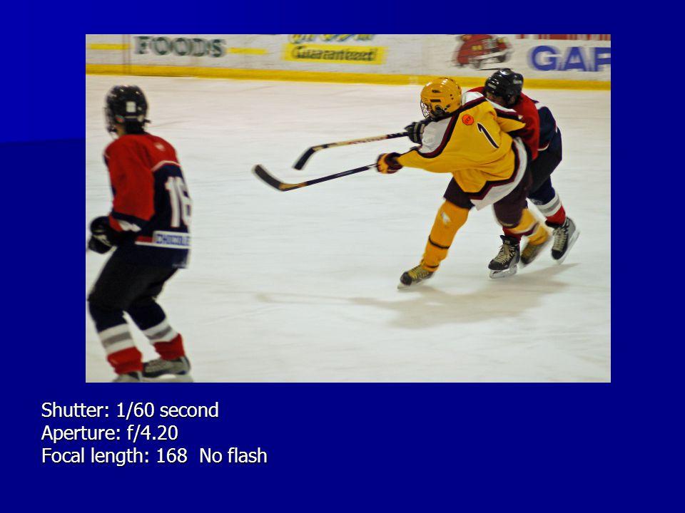 Shutter: 1/60 second Aperture: f/4.20 Focal length: 168 No flash