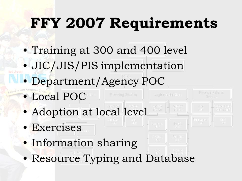 TRAINING NEEDS WITH IMTs Development of IMTs reduces, but does not eliminate overall training requirements –ICS-400 training Some instructors are available within State To be delivered on a contractor basis when needed Encouraged for those who want to develop skill sets Required for certain professional advancement (e.g.
