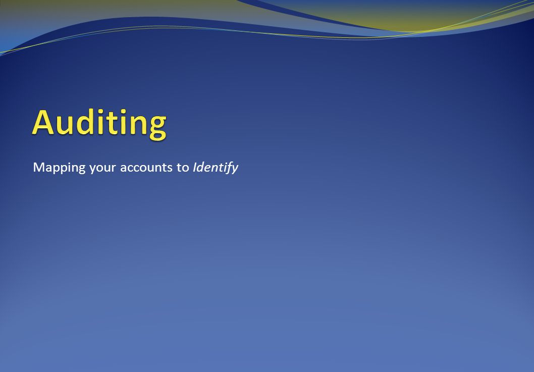 Mapping your accounts to Identify