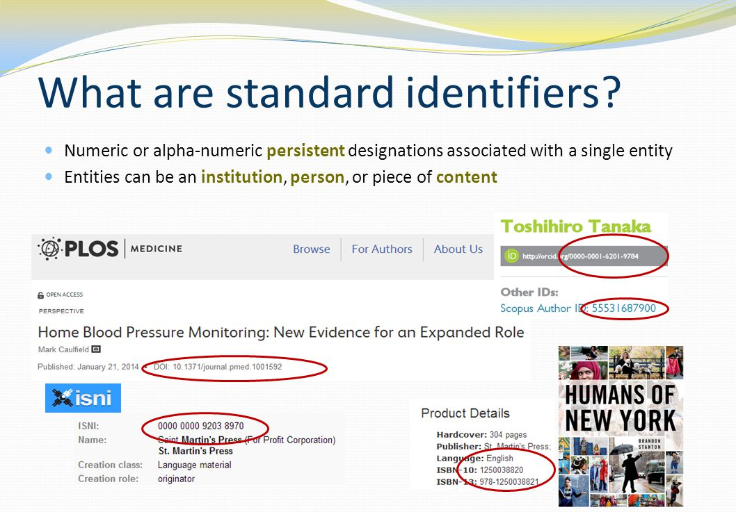What are standard identifiers.