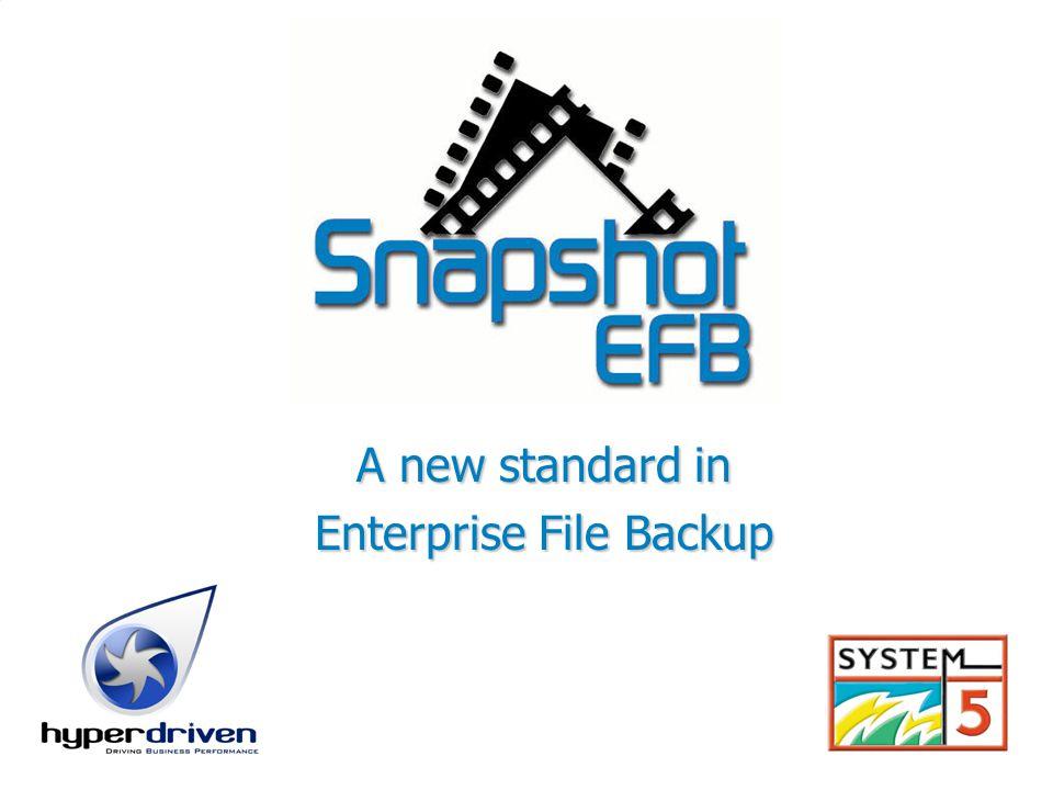 A new standard in Enterprise File Backup
