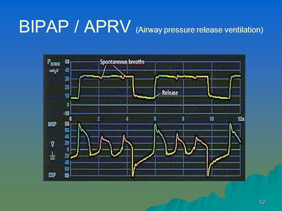 57 BIPAP / APRV (Airway pressure release ventilation)