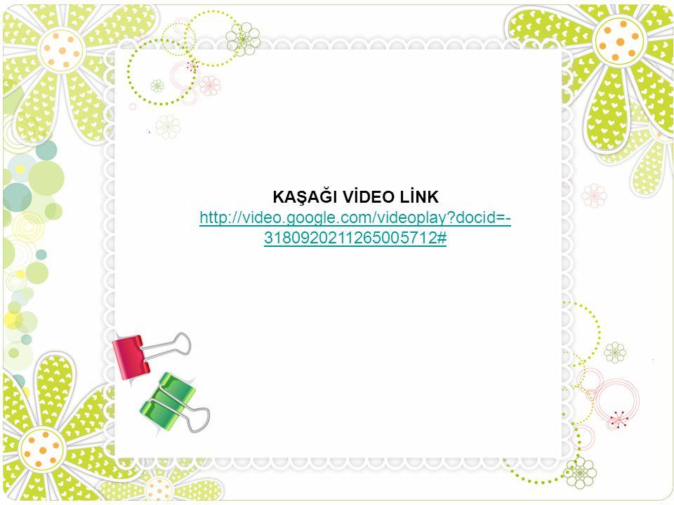 KAŞAĞI VİDEO LİNK http://video.google.com/videoplay?docid=- 3180920211265005712#