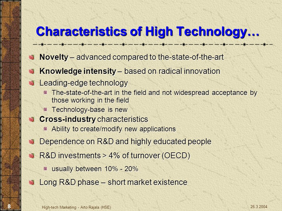 26.3.2004 High-tech Marketing - Arto Rajala (HSE) 19 Key Issues Why so many excellent products fail.