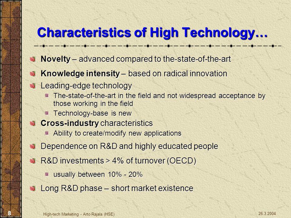 26.3.2004 High-tech Marketing - Arto Rajala (HSE) 9 Developer's vs.